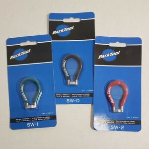 3ct Park Tool Bundle. SW-0 Black SW-1 Green SW-2 Red NEW Spoke Wrench