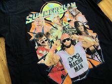Authentic WWE Summer Slam men's t-shirt XL wwf vtg bret hart ultimate warrior