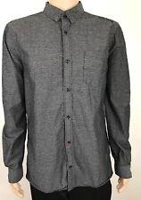 Buffalo David Bitton Men's Dress shirt Slim Fit Long sleeve Size XL Charcoal
