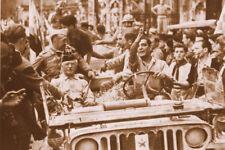 WW2 - Italie 1944 - Entrée en Jeep du Général de Monsabert à Sienne
