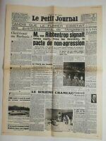 N585 La Une Du Journal Le petit journal 24 août 1939 ribbentrop pacte soviéts