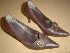 Womans No Doubt Brown High Heeled Shoes - Size 4