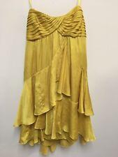 Gorgeous Mustard Gold BCBG Maxazria Dress Cocktail Fun Flirty Size 4 Flattering