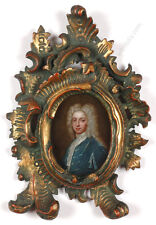 """Portrait of a young prince said to be Karl Albrecht of Bavaria"", oil on copper"