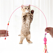 Pet Toys Cats Kitten Pussy Fun Game Toy Fish Rod Catcher Play Puppy Pets Teaser