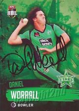 ✺Signed✺ 2015 2016 MELBOURNE STARS Cricket Card DANIEL WORRALL Big Bash League