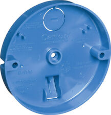 Carlon  3/4 in. PVC  1 gang Ceiling Fan Pan  Blue  Round  1 Gang