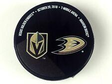 Vegas Golden Knights vs Anaheim Ducks Matchup Puck 10/20/18 Arena Exclusive