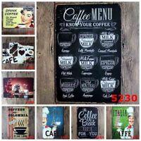 Retro Style Painting Coffee Decor Signs Plaque Vintage Metal Tin Sign Club Decor