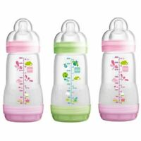 MAM Easy Start Anti Colic Baby Bottles Triple Pack - Green Elephant - 260ml