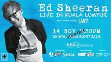 Ed Sheeran tickets (Kuala Lumpur) 14/11/2017