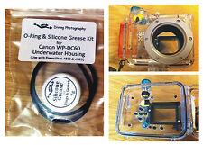 O-RING & SILICONE GRASSO KIT PER CANON wp-dc60 Immersione Subacquea Case Custodia