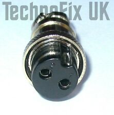 2 pin round metal power connector locking plug (GX16-2) for Yaesu FT-480R etc