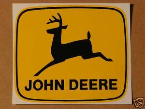 JOHN DEERE 4 inch 2-legged Black Deer Computer Cut DECAL Tractor Free Ship J1999