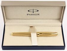 Parker Sonnet Chiselled Gold finish Rollerball Pen NEW Gift boxed £150+