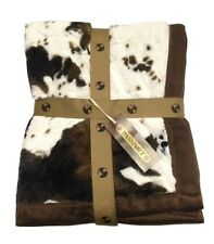 Animal Print Throw Blanket - Horse Equine Faux Fur