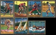 Paraguay 1970 Mi 2035-41 ** Olimpiada Olympiade Olympics Sport Bike Rower