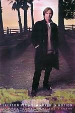 JACKSON BROWNE 1989 WORLD IN MOTION PROMO POSTER ORIGINAL