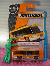 Matchbox SWIFT SHUTTLE #6☆Orange/White Bus; Airlines☆2016 Adventure City☆case J