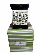 Scentsy BOLEYN Deluxe Warmer RETIRED Full Size Electric Black White w/ Box