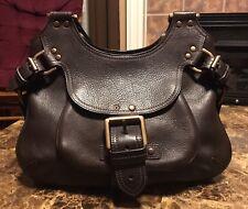Vintage Mulberry Satchel Brown Leather Shoulder Bag Purse