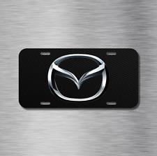 Mazda Vehicle Aluminum License Plate Auto Car Tag 3 5 6 miata mx-5 Carbon Fiber