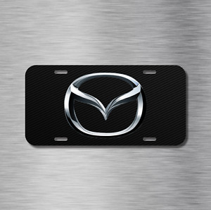 Mazda Vehicle Front License Plate Auto Car Tag 3 5 6 miata mx-5 Carbon Fiber