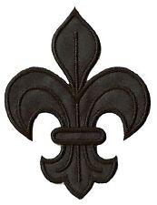 Écusson patche fleur de lys médiéval noir patch déguisement