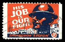 South Africa Patriotic Poster Stamps - WWII Sprinkbok Legion English Single