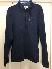 WOOLRICH Extra Large SWEATER Pullover Knitted Front Pocket Blue 1/4 Zipper NEW