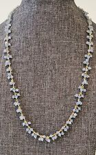 """Blue Chalcedony 18"""" Necklace New"""