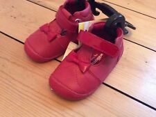 M&S BABY GIRL SHOES Size 2 Walkmates LEATHER RED BOW BNWT Kids