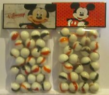 2 Bags Of Mic key Mouse Cartoon Promo Marbles