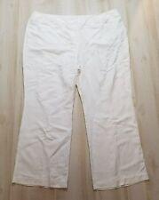 Lane Bryant Pants Sz 26 28 Plus Solid White Casual Linen Blend Full Length