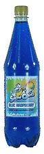 Jarabe De Cono De Nieve Azul Frambuesa Botella de 1 litros Shave Ice, aguanieve