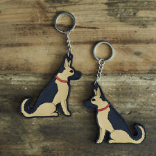 Cute GERMAN SHEPHERD DOG Keyring, Novelty Gift, PVC Key Ring, Bag Charm, FREEP&P