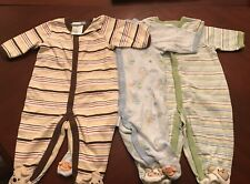 VITAMINS BABY BOY SLEEPERS SZ 3 MONTH LOT (3) EXCELLENT CONDITION $2.00 A Piece