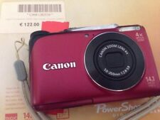 Canon PowerShot A2200 14.1 MP Digital Camera - Red