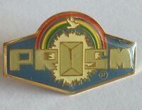 Prism Rainbow And Dove Christian Retro Religious Pin Badge Rare Vintage (F3)