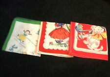 3 Vintage Childs Childrens Handkerchiefs Hankys 1 Tom Lamb 1 Penny Pineapple