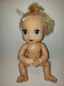 Baby Alive Learn To Potty 2007 Hasbro Interactive Soft Face Doll Blonde works G9