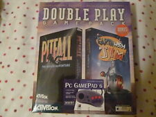 Vintage Dble Pack Pitfall & Earthworm PC CD-ROM Original Big Box + Game Pad New
