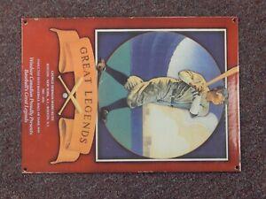"Windsor Canadian Baseball Legends Babe Ruth 14"" x 10"" Metal Sign"