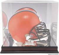 Cleveland Browns Mahogany Helmet Logo Display Case with Mirror Back - Fanatics