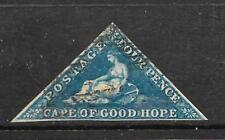 CAPE OF GOOD HOPE 1855-63   4d  DEEP BLUE  FU  3mgns  SG6A