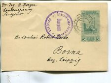 Bosnia and Herzegovina censor postal card to Germany 1915