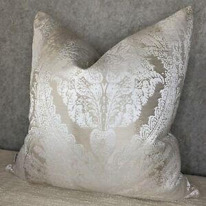 "Luxury Cushion Cover 18"" Designer iLiv Fabric & Ivory Natural Decor Handmade"