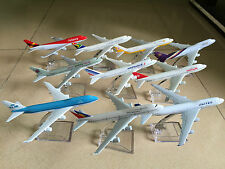 10PCS BOEING 747 Passenger Airplane Plane Metal Diecast Model Collection A2