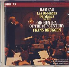 Rameau: Dardanus & Boreades Suites / Bruggen, Orch 18th Cent (Philips) Like New