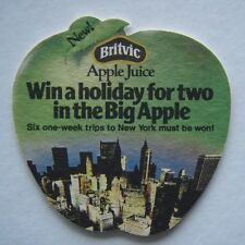 BRITVIC APPLE JUICE WIN A HOLIDAY FOR TWO IN THE BIG APPLE QUIZ COASTER